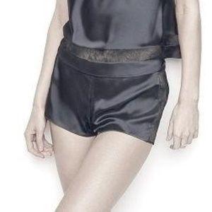 Victoria's Secret Shorts - NEW Very Sexy Lace Satin Boxer Shorts Sleep Lounge